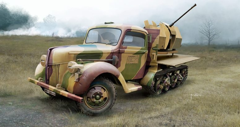Auletta Vincenzo. ЗСУ Kfz.3b Maultier with Flak 38.