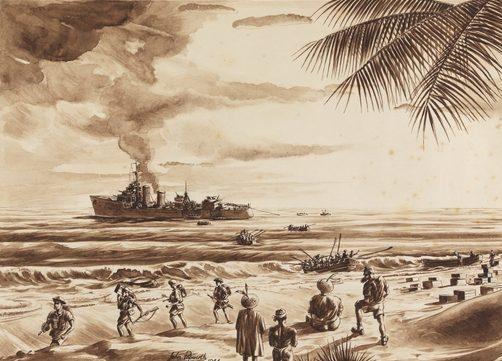 Papworth John. Эсминец «Voyage».