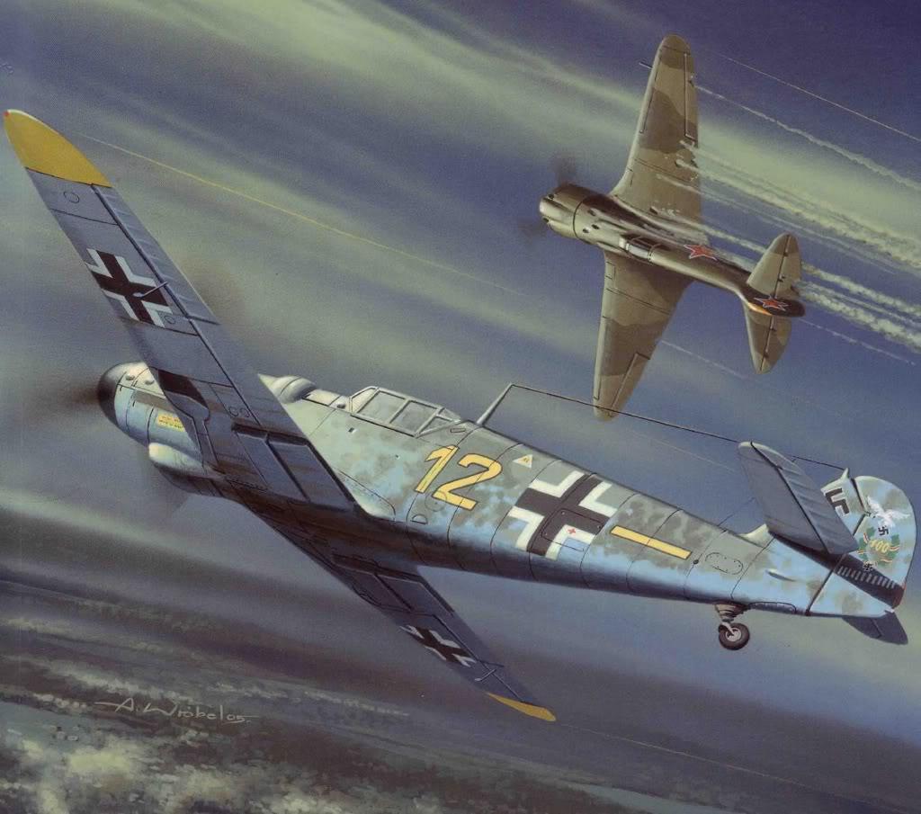 Wróbel Arkadiusz. Истребители Bf -109.
