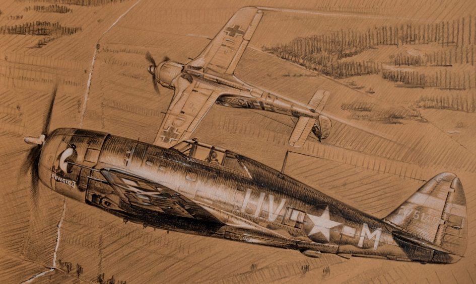 Dubowik Piotr. Истребитель Р-47D.