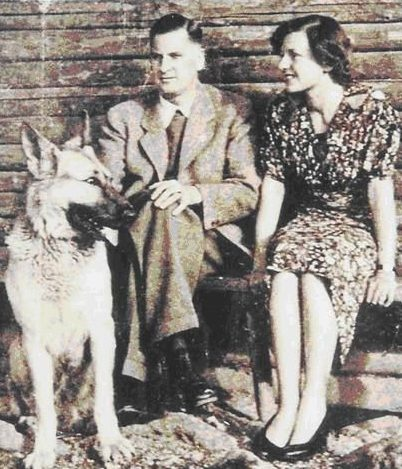 Генриетта фон Ширах с мужем.