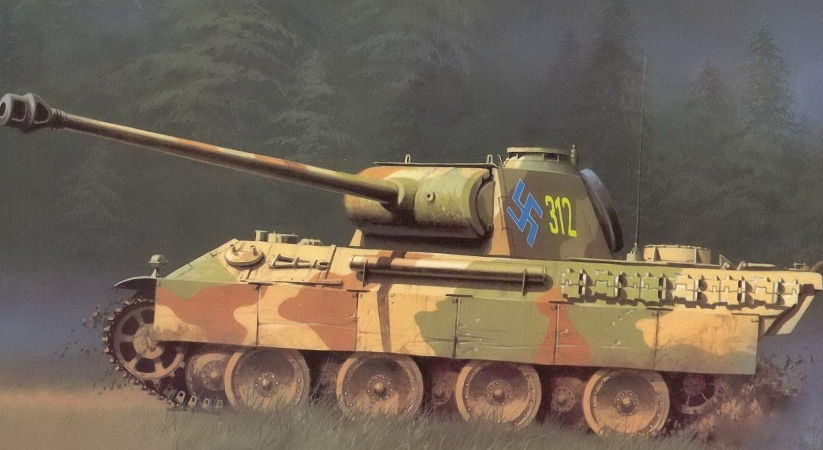 Wróbel Arkadiusz. Танк PzKpfw V.
