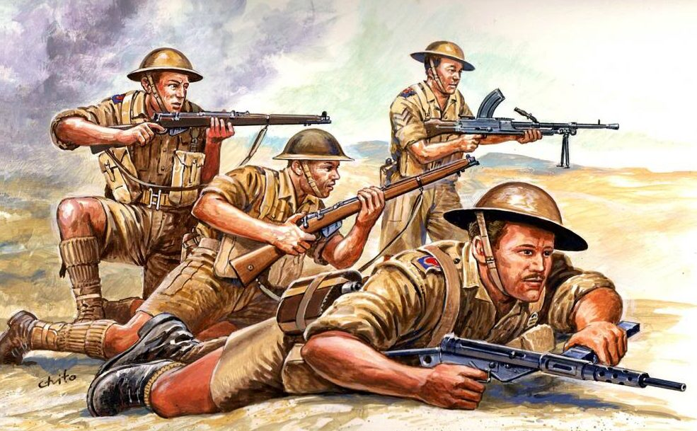 Chito Tino. Британская пехота.