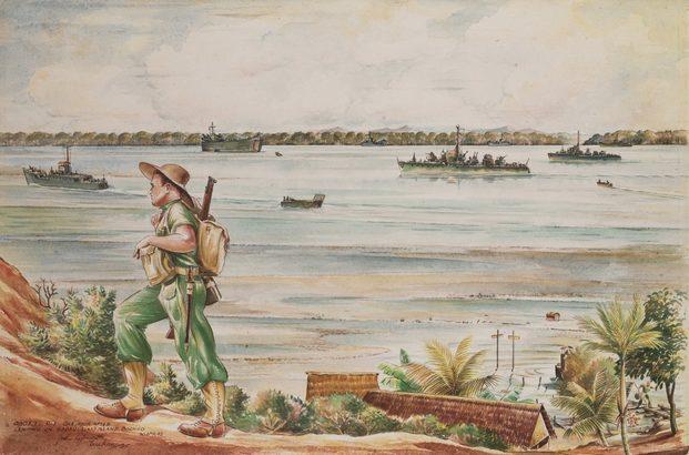 Papworth John. Часовой. Остров Borneo.