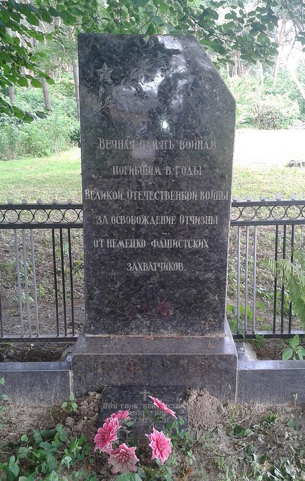 с. Победа Броварского р-на. Памятник, на околице села, установленный в 1985 году на братской могиле воинов, погибших в годы войны.