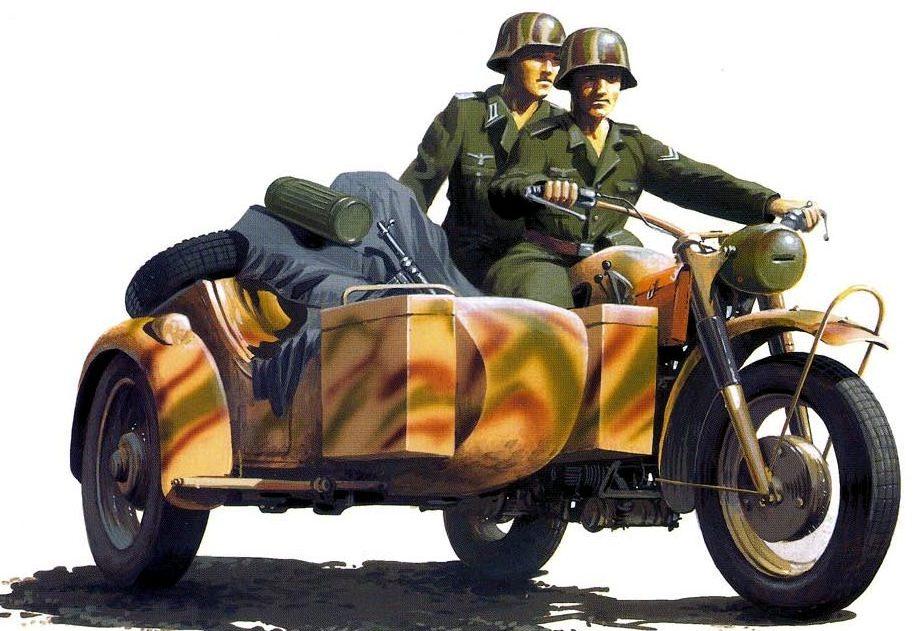 Wróbel Arkadiusz. Немецкие мотоциклисты.