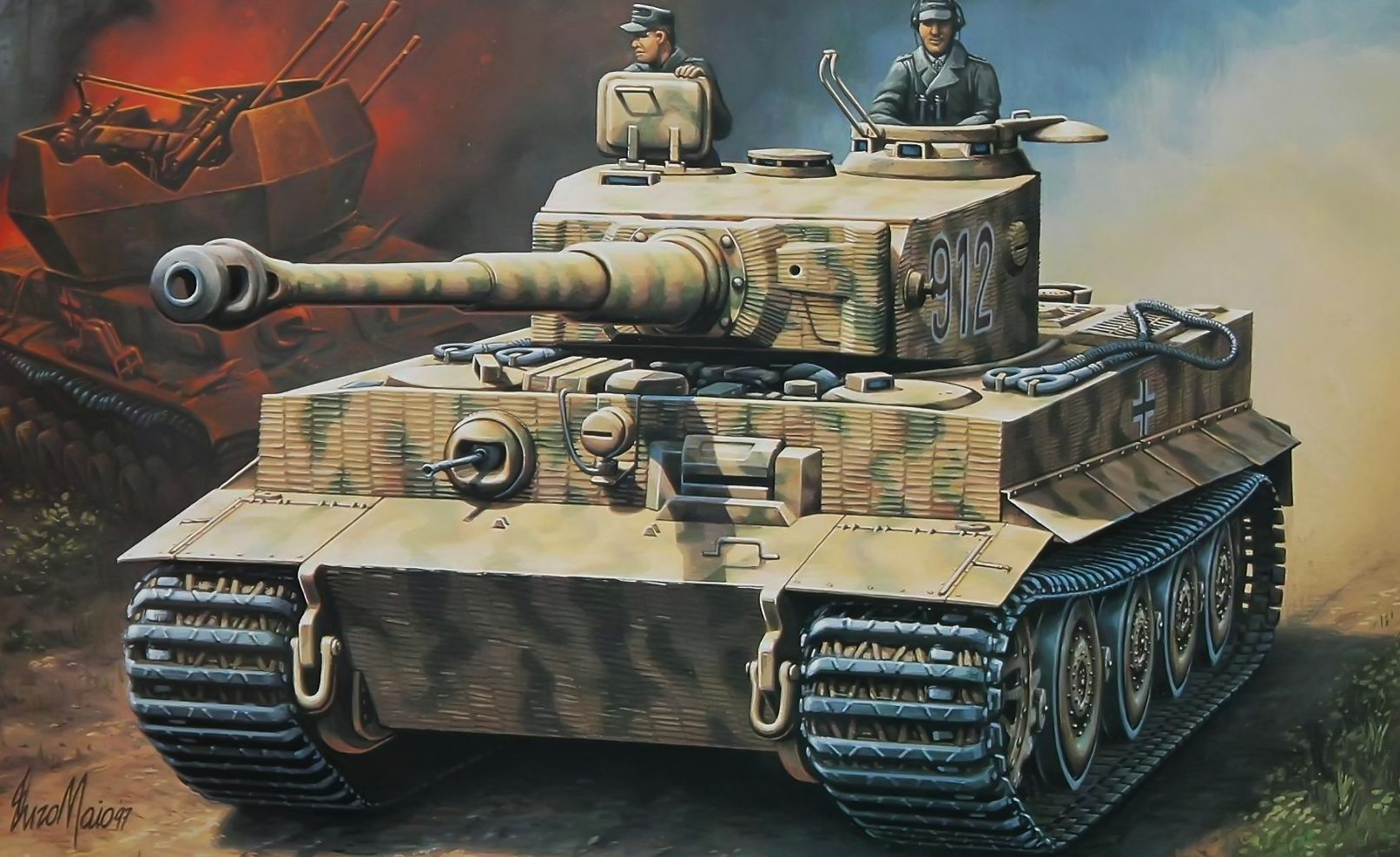 Maio Enzo. Танк Pz.Kpfw VI «Tiger» Аusf.E.