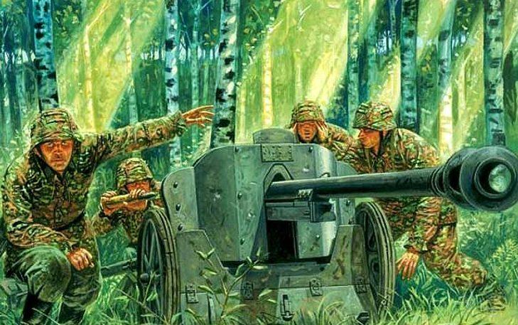 Rava Giuseppe. Противотанковое орудие 50-mm Pak 38.