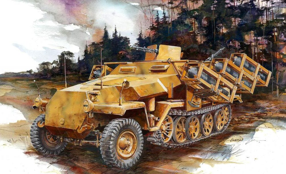 Jameson. Пусковая установка Wurfrahmen 40 на Sd.Kfz. 251 Ausf. C.