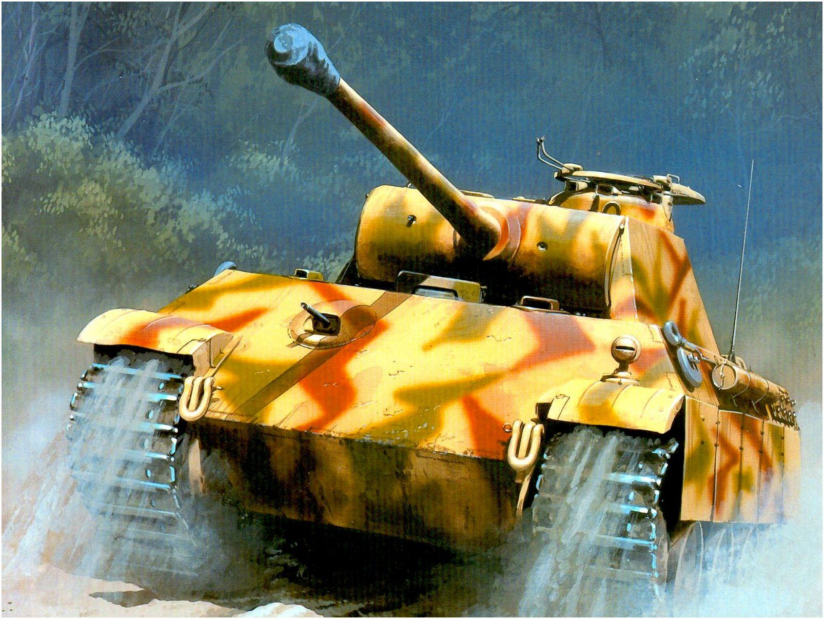 Wróbel Arkadiusz. Танк Panther Ausf. G.