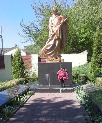 с. Старые Безрадичи Обуховского р-на. Мемориал в центре села, установленный в 1950 году воинам-односельчанам, погибшим в годы войны.