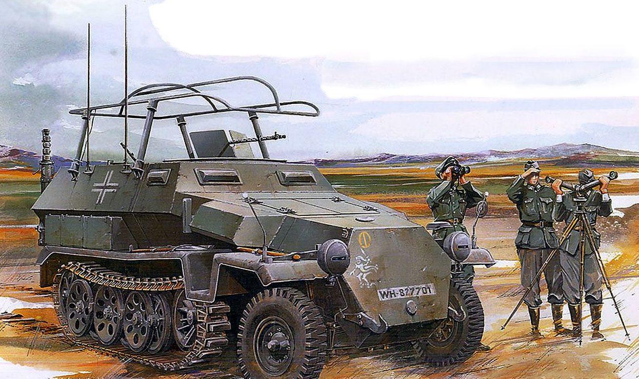 Jameson. Бронеавтомобиль Sd.Kfz. 251/6 Ausf. C.