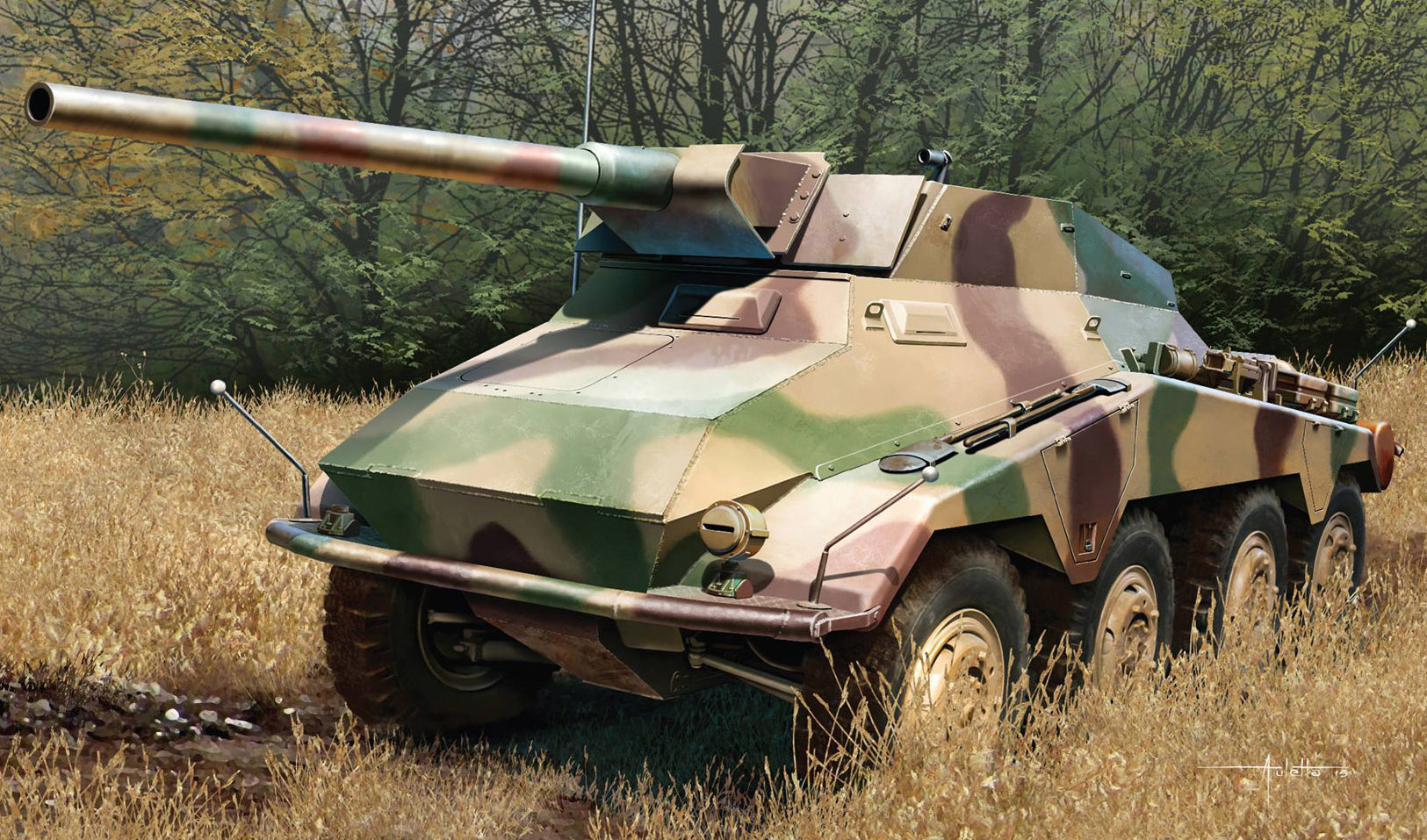 Auletta Vincenzo. Тяжелый бронеавтомобиль Sd.Kfz.234/4.