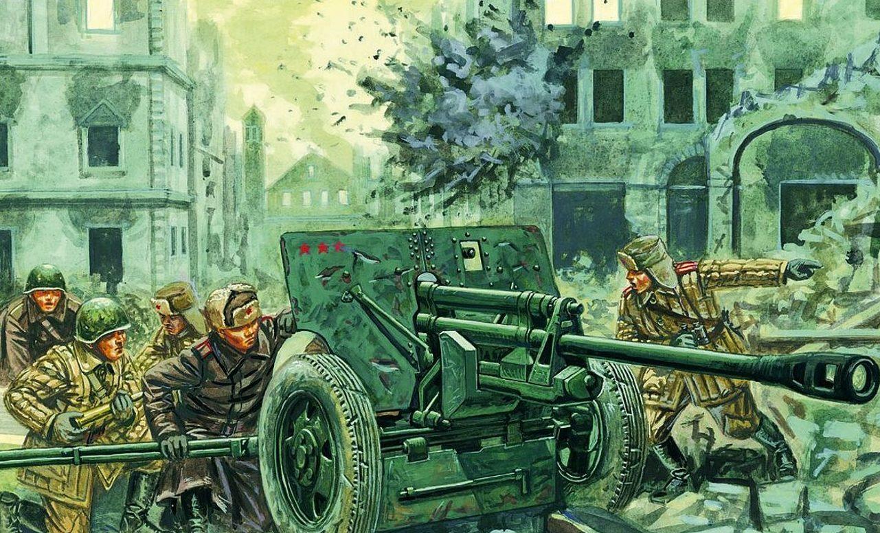 Rava Giuseppe. Противотанковое орудие 76,2-mm ЗиС-23.