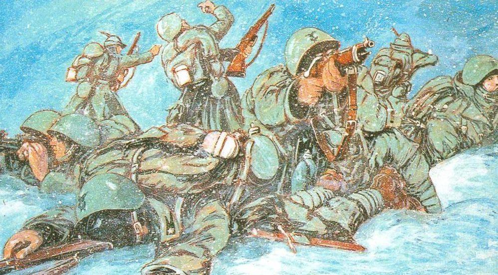 Parducci Alberto. Январь 1942 г. Россия.