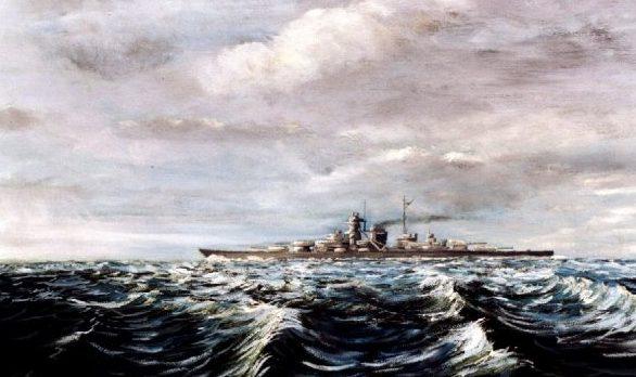 Brau Karl. Линкор «Bismarck».