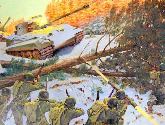 McBarron Charles. Атака немецкого танка.
