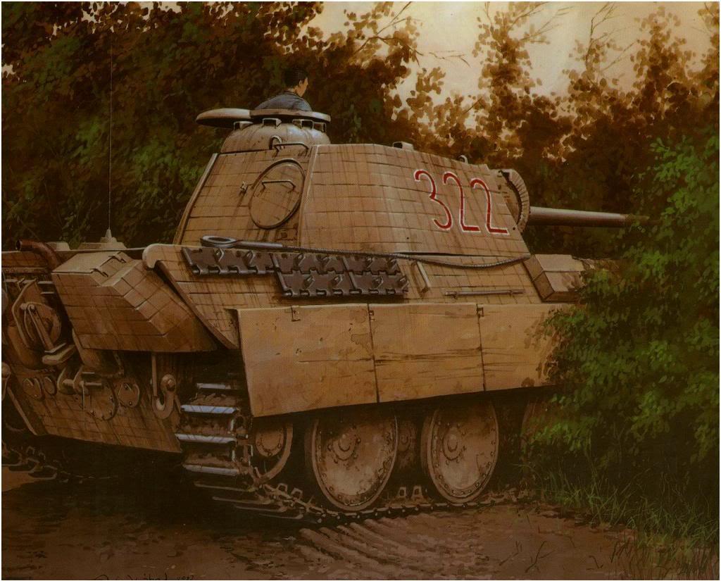 Wróbel Arkadiusz. Танк PzKpfw. V Panther в засаде.