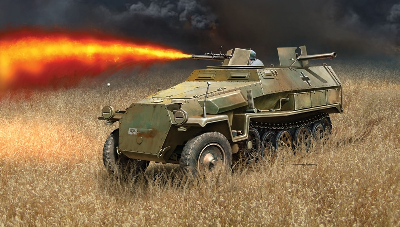 Auletta Vincenzo. Бронеавтомобиль Sd. Kfz. 251/16 Flammpanzerwagen.