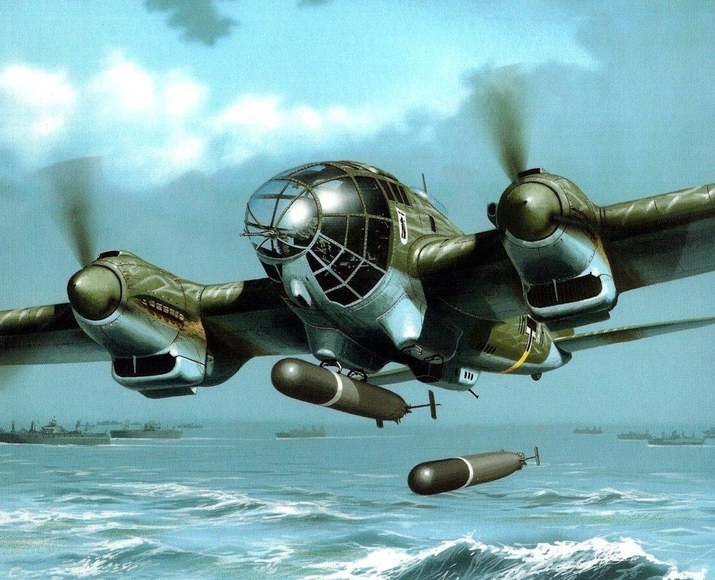 Wróbel Arkadiusz. Торпедоносец He-111.