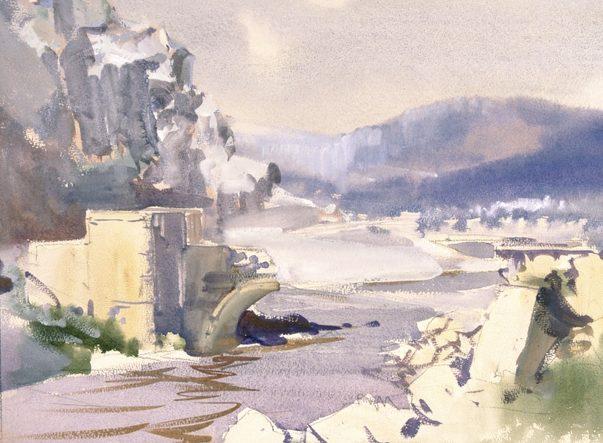 Harold Herbert. Взорванный мост на реке Litani.