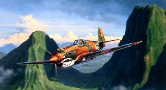Laurier Jim. Истребитель Curtiss P-40B Tomahawk.