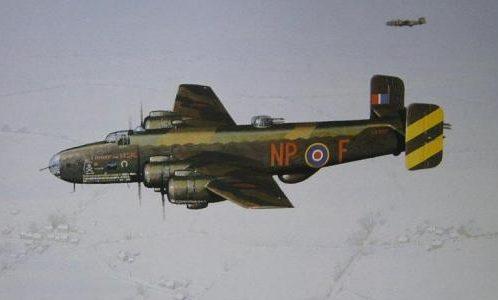 Woodcock Keith. Бомбардировщик Handley Page Halifax.