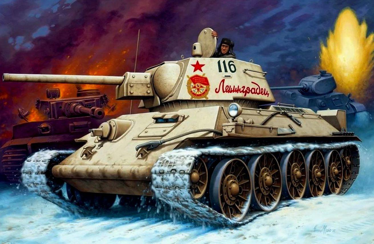 Maio Enzo. Танк Т-34/76.