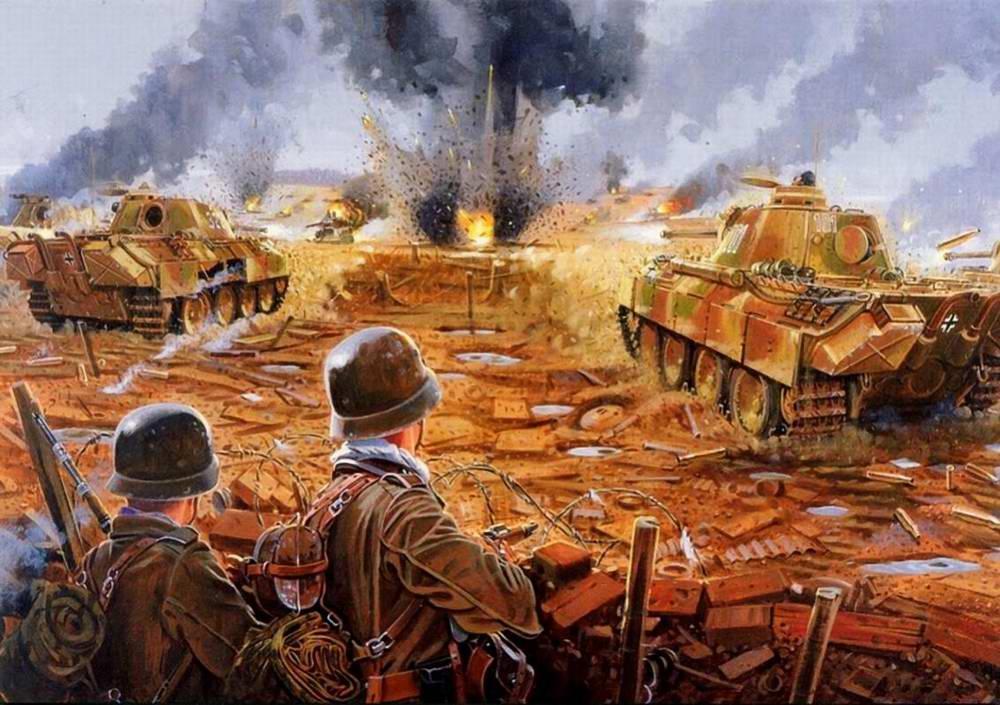 Rava Giuseppe. Атака немецких «Пантер».