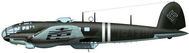 Tilley Pierre-André. Бомбардировщик He-111 H-1.