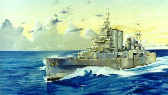 Wilson Randall. Тяжелый крейсер «Shropshire».