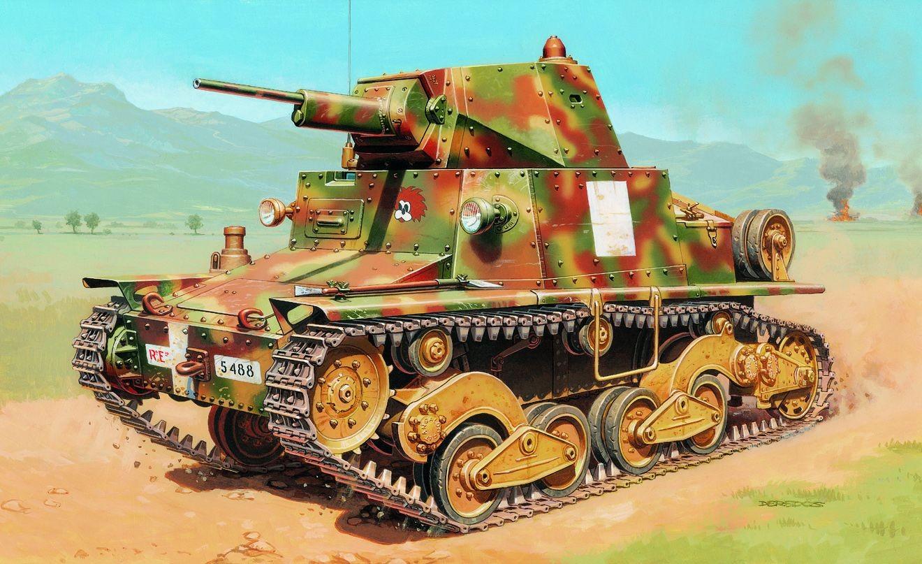 Deredos Andrzej. Итальянский танк L6/40.