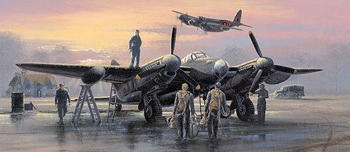 West Philip. Обслуживание Havilland Mosquito.