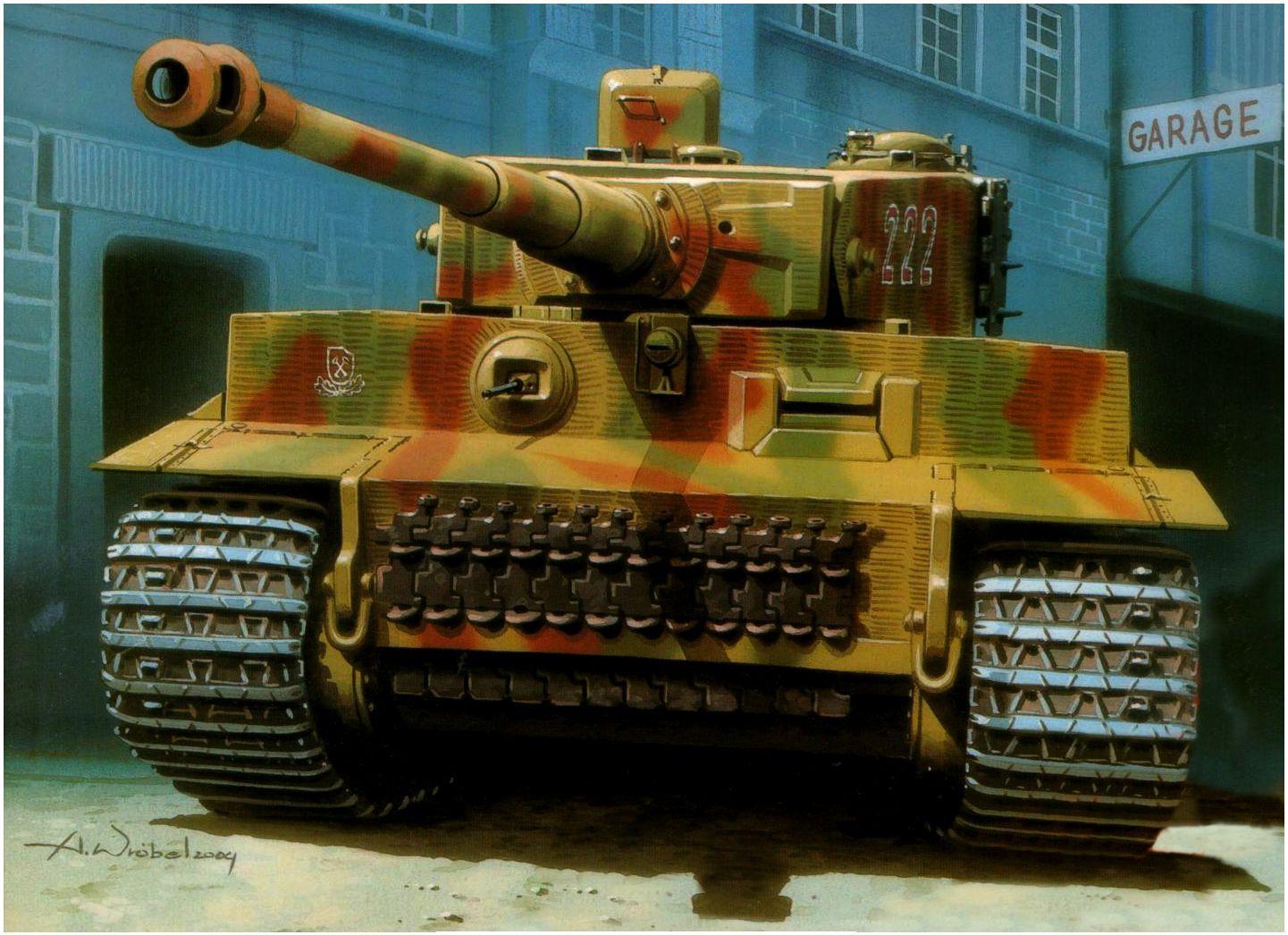 Wróbel Arkadiusz. Подбитый танк Pz.Kpfw. VI.