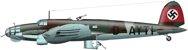 Tilley Pierre-André. Бомбардировщик He-111 B.