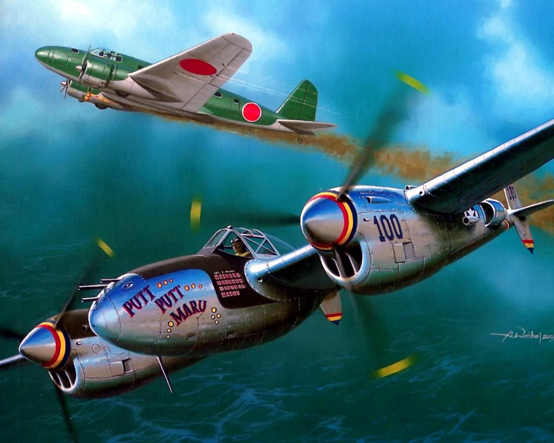Wróbel Arkadiusz. Истребитель P-38.