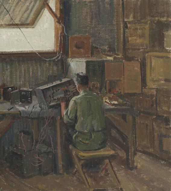 Watson Douglas. Капрал Dickinson в радиомастерской.
