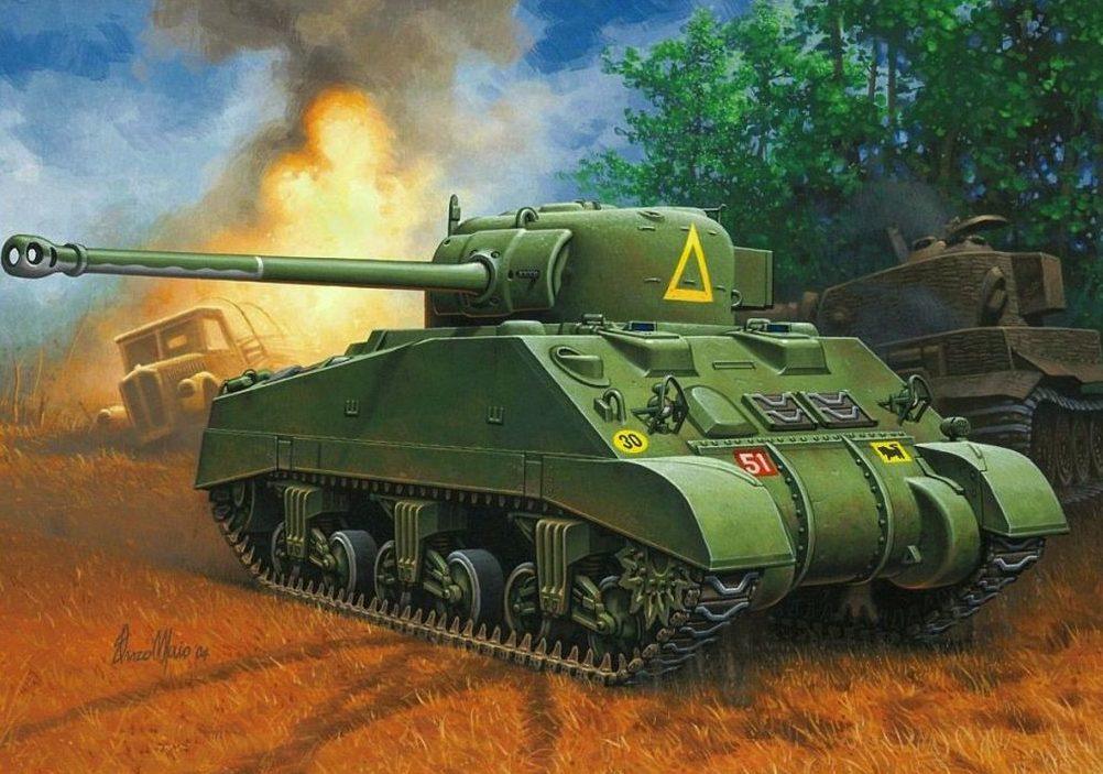 Maio Enzo. Танк Sherman Firefly.
