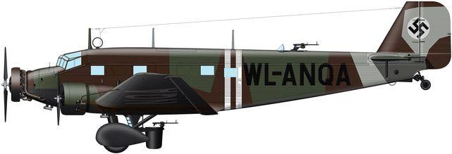 Tilley Pierre-André. Военно-транспортный самолет Ju-52.