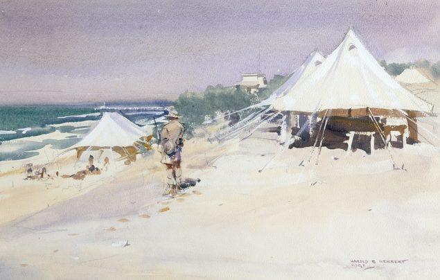 Harold Herbert. Пляж военных.