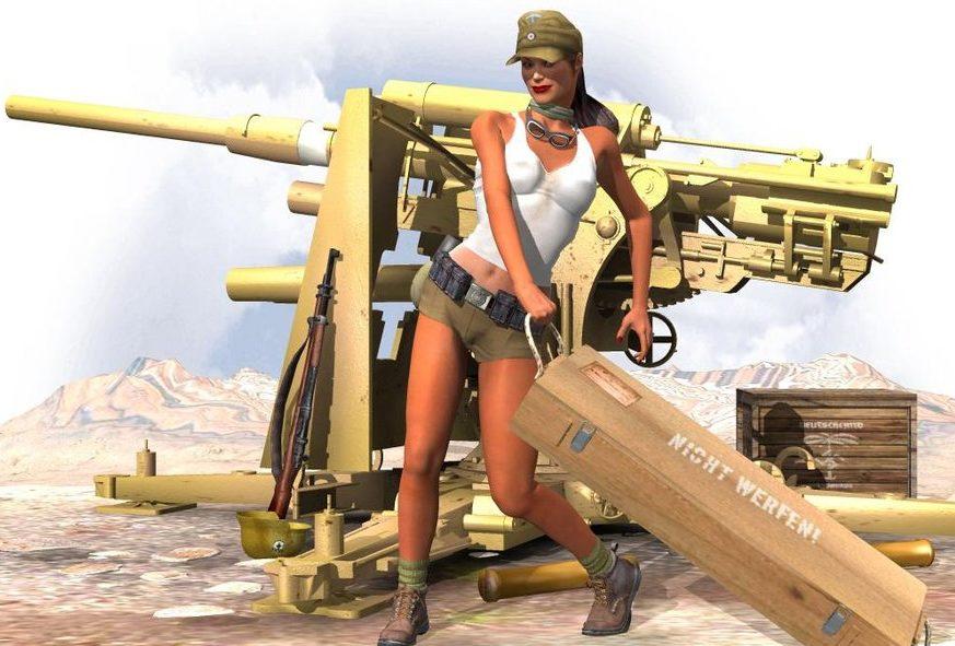 Dietz Britt. 88-мм пушка.