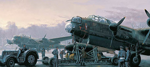 West Philip. Обслуживание бомбардировщика Lancasters.