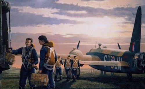Woodcock Keith. Экипаж бомбардировщика Vickers Wellington.