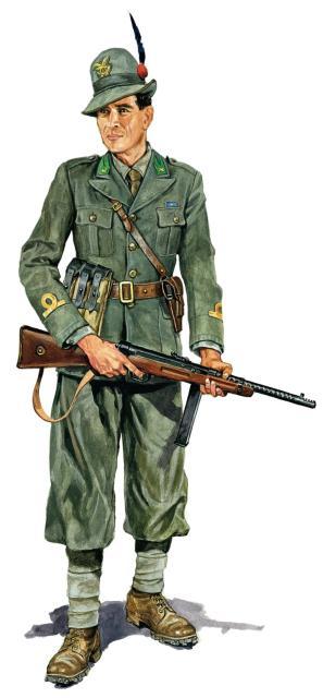 Szyzsko Marek. Офицер итальянских альпийских стрелков.