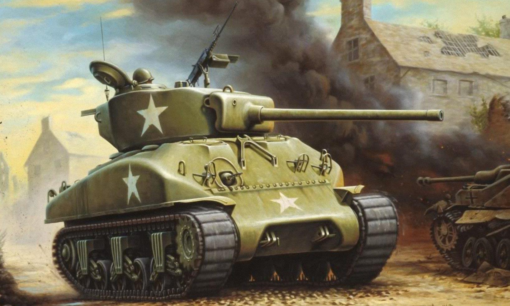 Maio Enzo. Танк M-4A1.