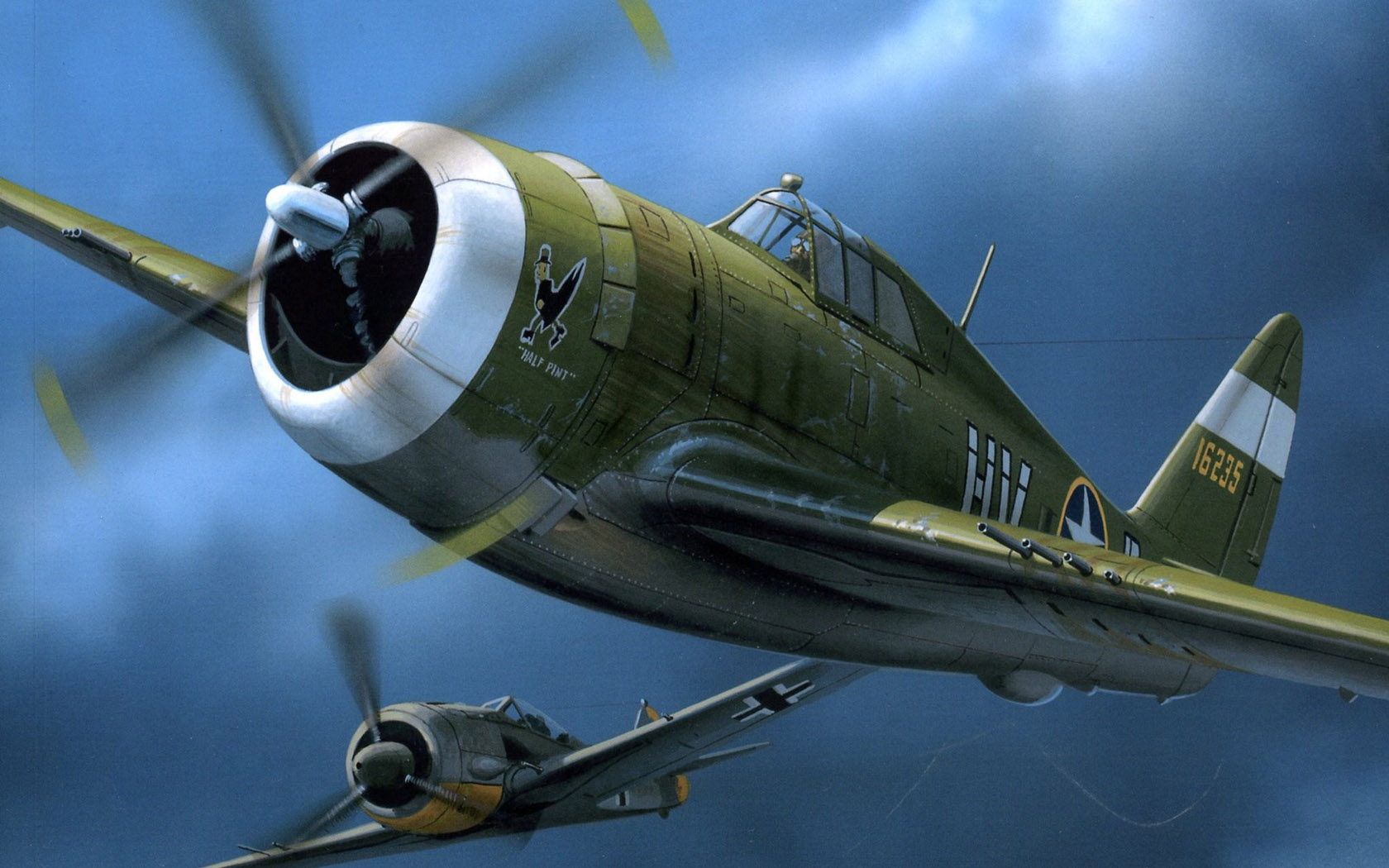 Wróbel Arkadiusz. Истребитель P-47.
