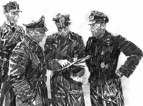 Askew Jason. Немецкие офицеры.
