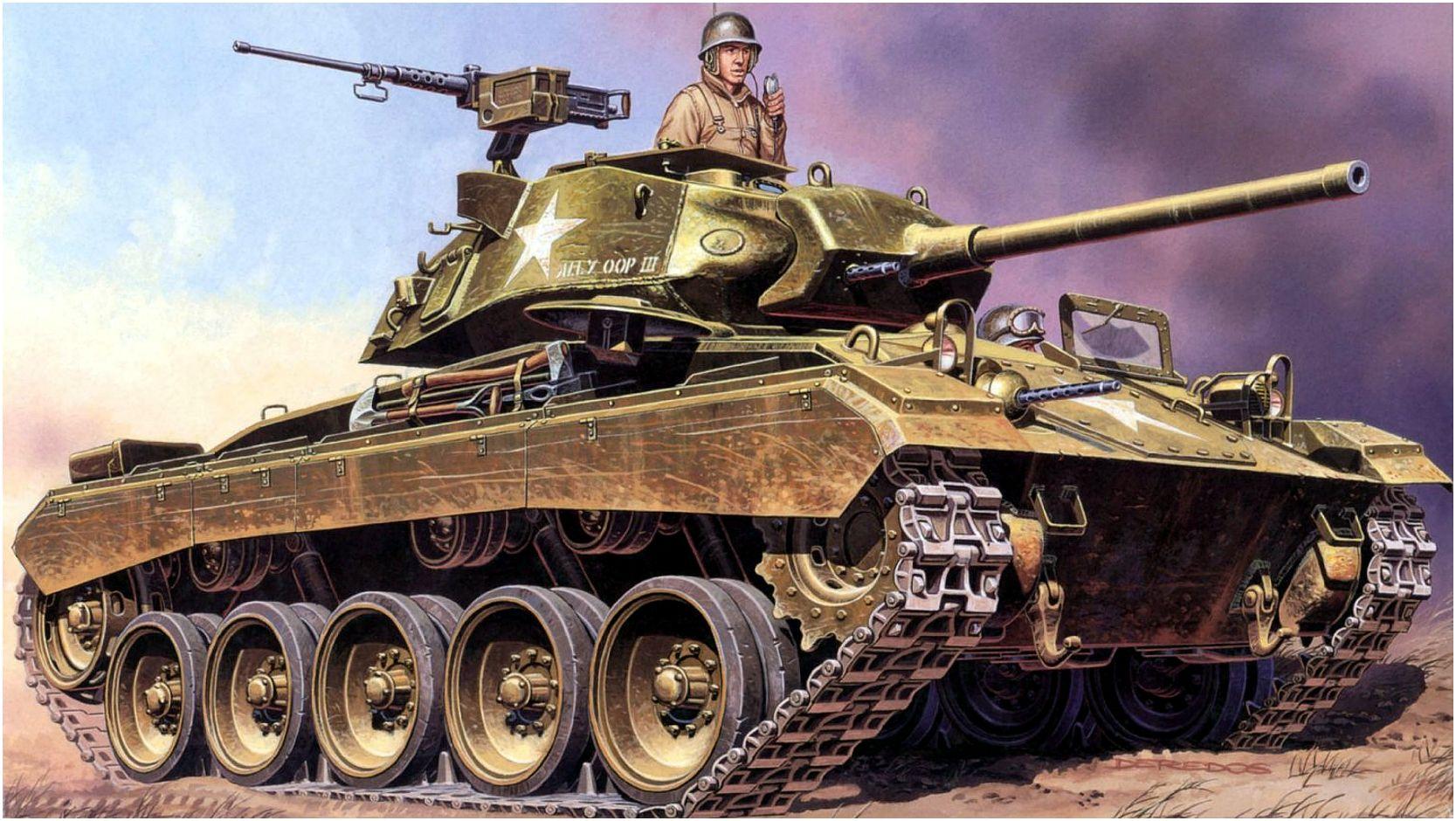 Deredos Andrzej. Танк M-24 Chaffee.