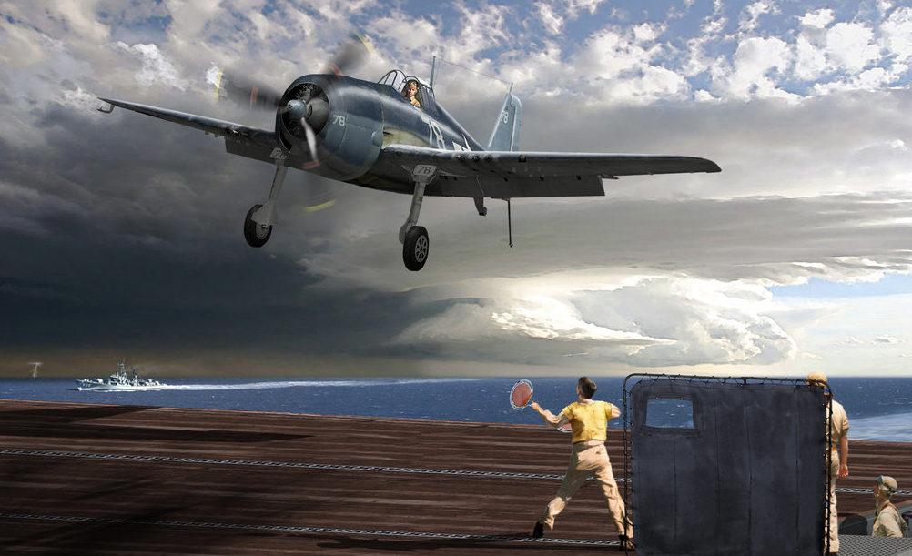 Ganote Matthew. Посадка на авианосец.