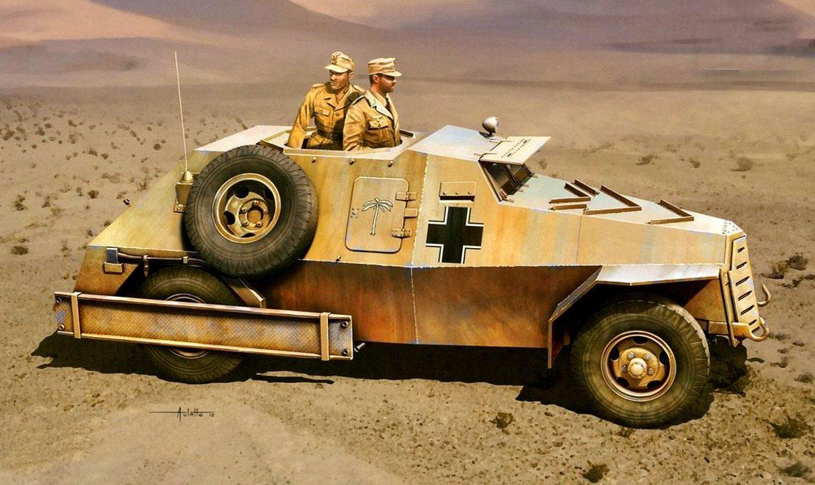 Auletta Vincenzo. Бронеавтомобиль Panzerspahwagen Marmon-Herrington.